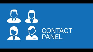 Contact Panel Widget YouTube video