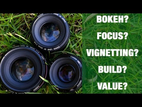 Canon 50mm shootout - 1.8 vs 1.4 vs 1.2L