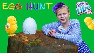 ASSISTANT Surpirse EGG Hunt With Little Live Pets Ultra Golden...