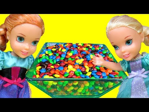 Candy Orbeez Gems ! Elsa & Anna Toddlers - Fun Playing