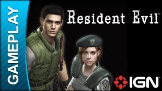 Resident Evil: Remake (Chris Redfield) - Tyrant Boss Fight Part 1 - Gameplay