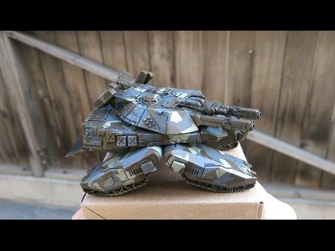 Tutorial: Using an Airbrush/Masking/Enamel Washes to paint a 15mm Sci-Fi Resin Tank PART 1