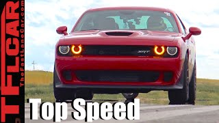 2016 Dodge Challenger Hellcat VS One Mile Top Speed Racing: How Fast Is a Hellcat - Ep.7 by The Fast Lane Car