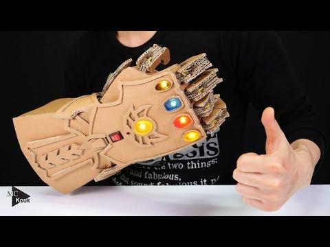DIY Thanos Infinity Gauntlet(Avengers) from Cardboard