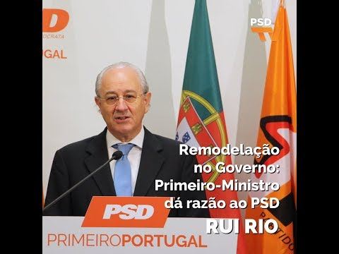 Remodelação no Governo: Primeiro-ministro dá razão ao PSD