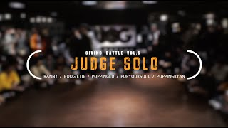 Ranny, Boogie Tie, Ed, PopYourSoul, Ryan – GIVING BATTLE VOL.5 POPPING 1 ON 1 JUDGE SOLO