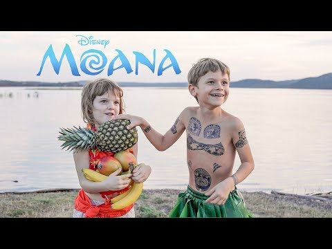 """MOANA """"You're Welcome"""" Real Life Maui -- Martin at 7 years old"""