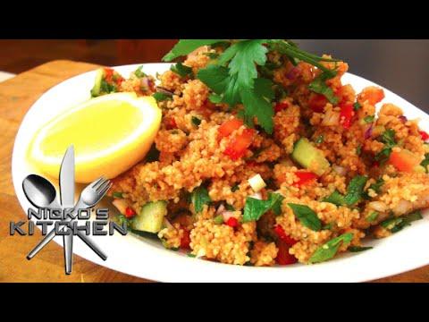 Turkish Couscous Salad (Kısır) – Video Recipe