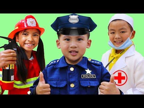 Jobs Career & Professions Song | Wendy & Friends Pretend Play Nursery Rhymes Kids Songs