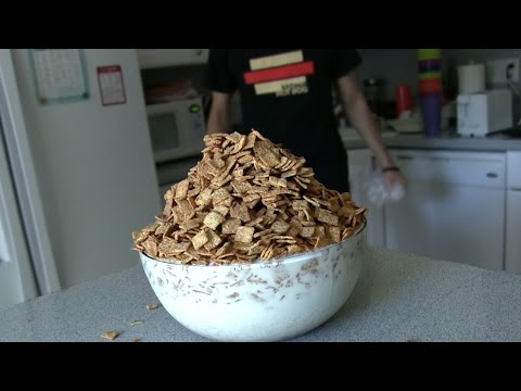 Guy Eats 3 Pounds Of Cinnamon Toast Crunch And Gallon Of Milk In