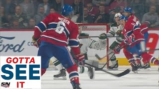 GOTTA SEE IT: Shea Weber Blasts Joel Eriksson Ek With Three Consecutive Slap Shots by Sportsnet Canada