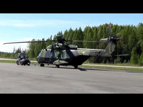 military Helicopter NH90-move. Air...