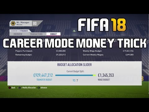 FIFA 18 Career Mode Tutorial: How To Get 1 BILLION Transfer Budget!