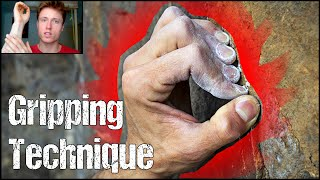 Rock Climbing Technique for Beginners : The Importance of Gripping Technique ! Crimps VS Open Grips by Mani the Monkey