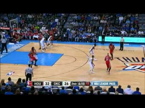 Dwight Howard Powers Home the Long Oop from Harden