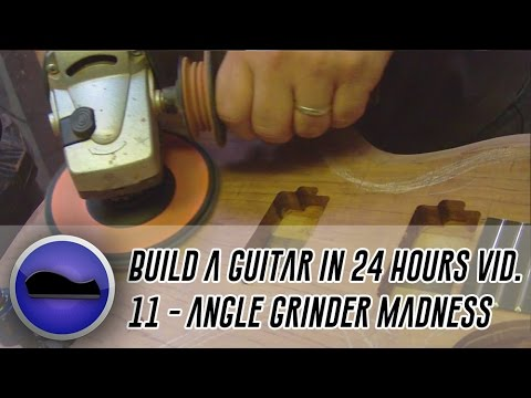 Video 11 - How to build a guitar | hand-carving the back, top and neck,.. with an angle grinder!