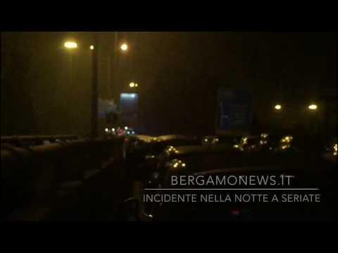 Incidente nella notte sulla superstrada a Seriate: due feriti