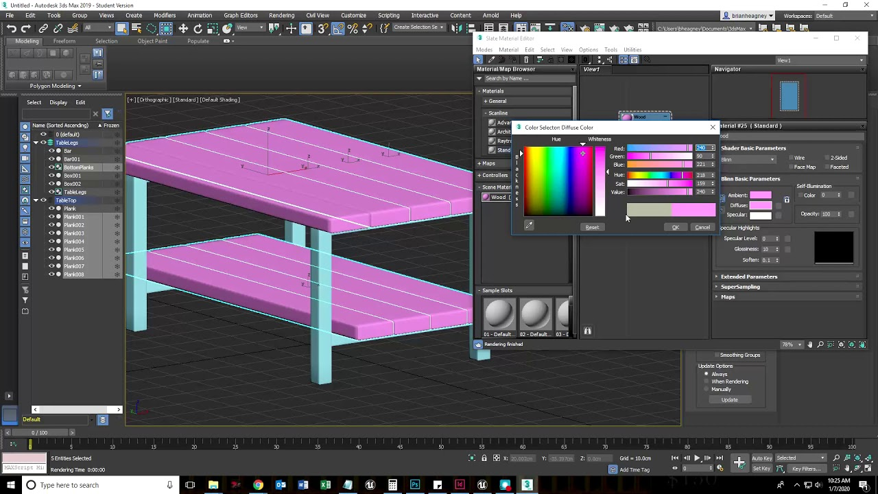 video/creating simple materials 3ds max tutorial