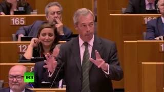 Farage booed and heckled after Brexit speech