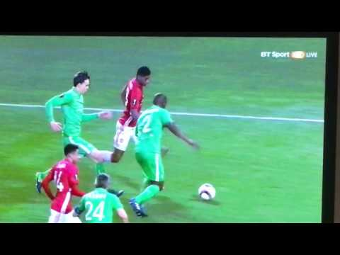 Zlatan's 2nd goal vs St. Etienne Europa league