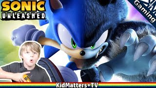 """Sonic Unleashed. Opening and Apotos day. Part 1. Tragen did a playthrough video of starting a new game for Sonic Unleashed back in Jan, so for """"throwback thursday"""", we dug that video up to put it up for all of you to enjoy.Tragen really likes the game. Mixed reviews were probably due to comparing it to other sonic games. At the end of the day though...did we enjoy it? Yes. So we will give it a letter grade of B for all of that.ESRB rated 10+ Everyone""""Sonic Unleashed is an action game in which players assume the role of Sonic the Hedgehog in his quest to defeat the evil Eggman. Players mostly zoom across fantastical landscapes collecting gold rings and power-ups. Some sequences allow Sonic to transform into a wolf-like character as he explores different areas while beating up enemies with his fists and the occasional 'special attack' move. When Sonic wounds certain boss creatures, spurts of green fluid ooze from various afflicted areas. Cutscenes are sometimes lively and frenetic, involving enemy robots who shoot lasers at Sonic and a villain who electrocutes the hero""""amazon.com 4.2/5 starsIGN rated:7.0/10 (PS2/Wii)4.5/10 (X360/PS3)https://www.youtube.com/c/KidMattersTVSubscribe for more, it's FREE! And Never Miss a video by Hitting that Bell Icon!▶︎https://www.youtube.com/channel/UCkpFfjCLRUX9E62zJ1-r4Gg?sub_confirmation=1Watch More, from our Playlists:▶︎All of our Videos: https://www.youtube.com/watch?v=4E2cWLOC2dw&list=PLoGP4ZDuz55xoJH1gH43uXZI-Sfh3PEKC▶︎All Gaming videos:  https://www.youtube.com/watch?v=PVmm3qh-Cp4&list=PLoGP4ZDuz55yB7UnR0PN3pS1Tw1GnR2vM▶︎All Roblox videos:  https://www.youtube.com/watch?v=f4XLtgl_OIo&list=PLoGP4ZDuz55wkJO8KIVGWn2W3PBlDmKpH▶︎All LEGO videos: https://www.youtube.com/watch?v=KqbvsQJvf84&list=PLoGP4ZDuz55yscyKKZBNewnsXimqk6AzG▶︎Parks&Recreation: https://www.youtube.com/watch?v=Kg9RFYsKasY&list=PLoGP4ZDuz55wbH7DnaTgQnLKecpDG6AU9▶︎Cooking: https://www.youtube.com/watch?v=b-E5-OvouUI&list=PLoGP4ZDuz55yeLYlG-vigbgrMWaWEr2pi▶︎Crafts: ht"""