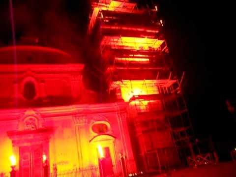 PRAIANO FESTA BAROCCA -- illuminazione pirotecnica (видео)