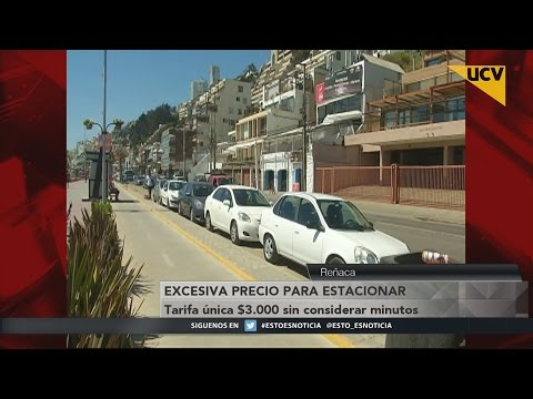 video Denuncian alto costo por estacionamientos en Reñaca
