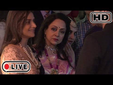Hema Malini With Daughters At Mukesh Ambani's Daughter Isha Ambani's WEDDING Reception