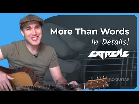More Than Words – Extreme – Guitar Lesson Acoustic (SB-126) Nuno