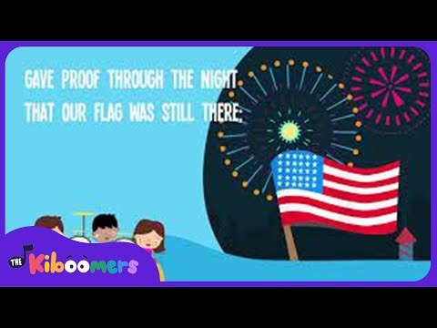 Star Spangled Banner Song For Kids | National Anthem | The Kiboomers