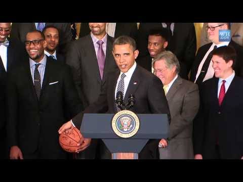 Obama Recibe al Miami Heat en la Casa Blanca