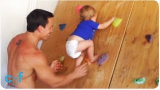 Rock Climbing Baby | Making Dad Proud For Father's Day
