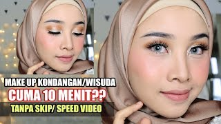 Video CUMA 10 MENIT ?? TUTORIAL MAKEUP KONDANGAN / WISUDA + TIPS MAKE UP CEPAT DAN MUDAH FULL COVERAGE MP3, 3GP, MP4, WEBM, AVI, FLV Mei 2019