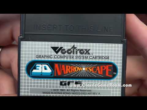 Classic Game Room - 3-D NARROW ESCAPE review for Vectrex