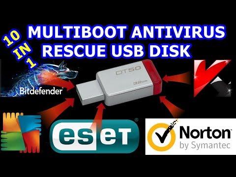 Multi boot Antivirus Rescue USB Disk