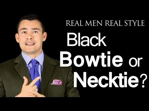 Black Bow Ties or A Black Necktie - Which Tie Style When Wearing A Tuxedo?  Black Tie Neckwear Tips