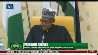 President Buhari Thanks Nigeria For Support And Prayers