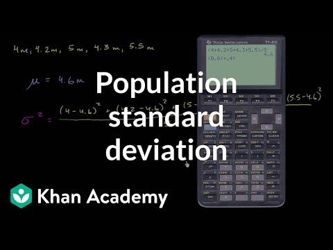 Population Standard Deviation Video Khan Academy