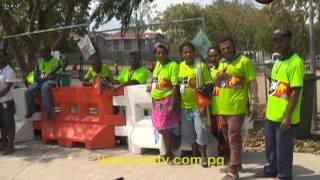 The assistant returning officer for Moresby North East was arrested this morning for impersonating a police officer.The electoral official was apprehended by police at the Sir John Guise Stadium, when he was caught wearing a police uniform.visit us at http://www.emtv.com.pg/ for the latest news...