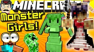 Minecraft MONSTER GIRL MOBS! Haunted Dolls, Ghosts, Slime Girls&More!