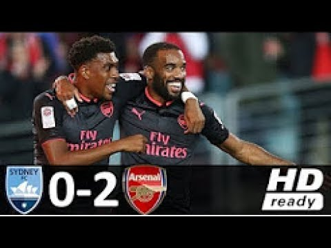 Aresenal vs Sydney 2-0 All Goals & Extended Highlights 13/07/2017 Debut Lacazette