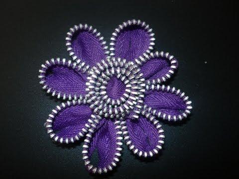 Manualidades y accesorios la hormiga. como hacer una flor con cierres . video No.50