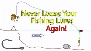 Video How to free a snagged fishing hook in a river (Genie in a bottle trick) MP3, 3GP, MP4, WEBM, AVI, FLV Oktober 2018