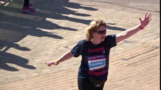 Laura Crosses the finish line raising £3,000 for the Heart Club!