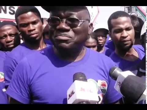 Video:Comrades Aremu,Yusuf Speak As Workers Hold 2014 Africa Industrialization Day Rally