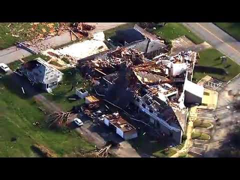 LIVE over Tornado Damage in Greensboro
