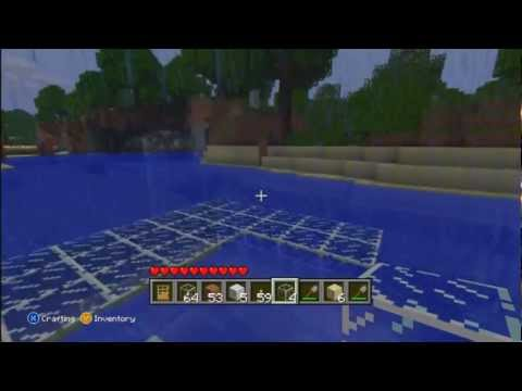how to drain water in minecraft