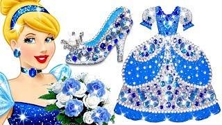 Play Doh Making Diamond Dress & Shoes For Disney Princess Cinderella