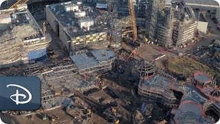 VIDEO: Drone Image of Disney's STAR WARS: Galaxy's Edge Construction Site