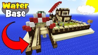 """Minecraft Tutorial: How To Make A Survival Base On the Water """"Easy Survival Base"""""""